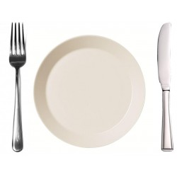 Plate + fork + knive